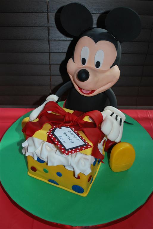 Mickey Mouse Happy Birthday Cake
