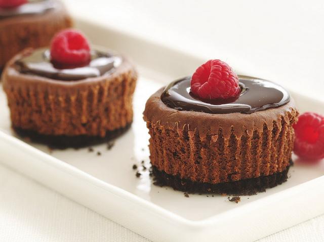 Mini-Chocolate Cheesecakes