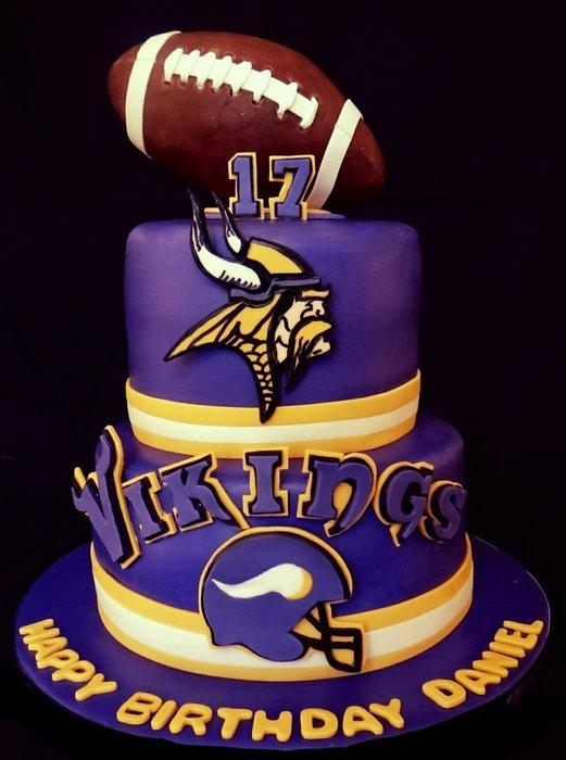 9 Photos of Minnesota Vikings Birthday Sheet Cakes