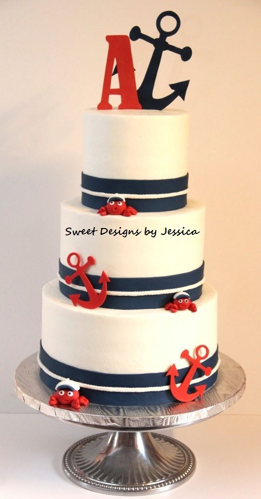 Nautical Bridal Shower Cake