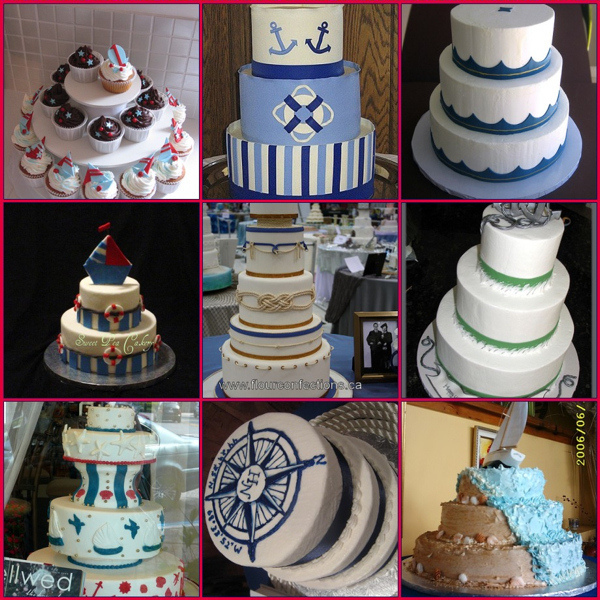 Nautical Theme Wedding Cake Idea