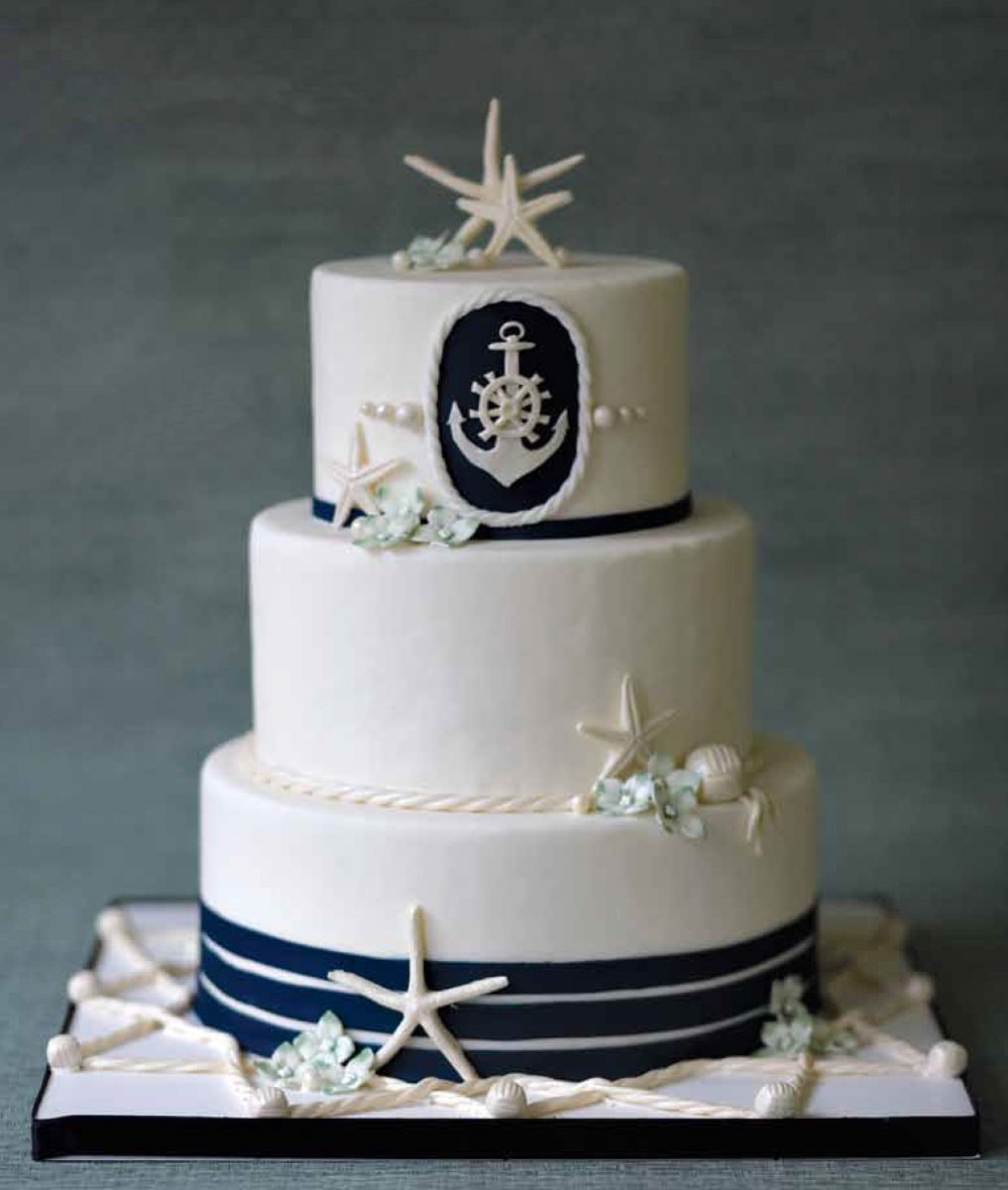 12 Photos of Nautical Bridal Cakes
