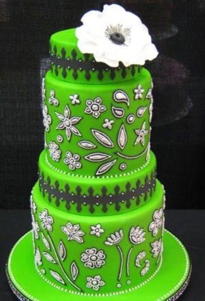Neon Green Wedding Cake