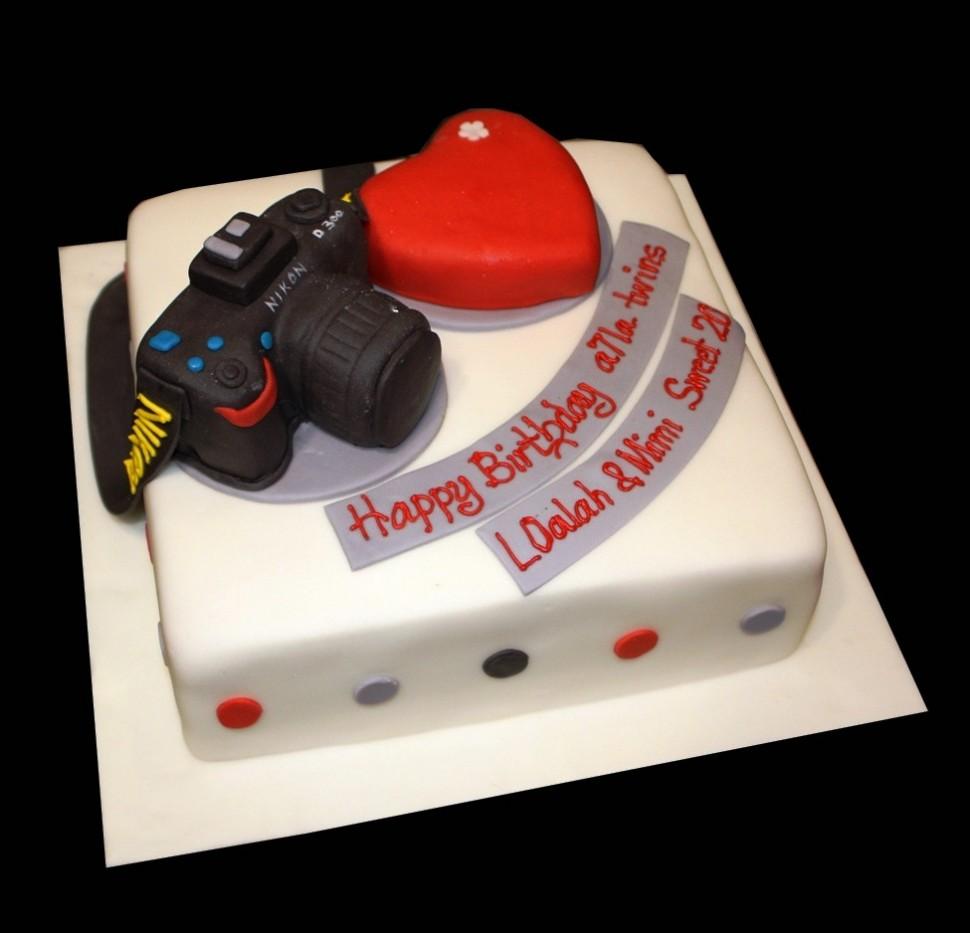 Nikon Camera Birthday Cake