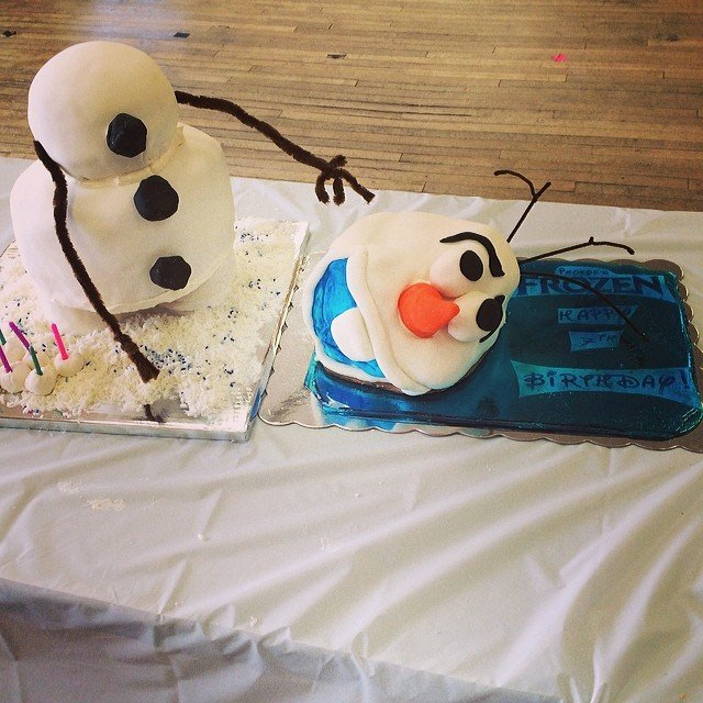 Olaf Frozen Homemade Birthday Cakes