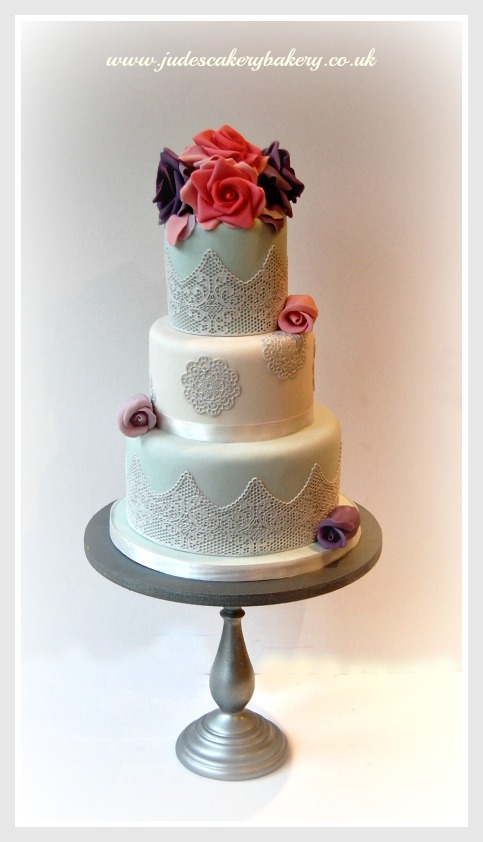 11 Photos of Lace Cake Cakes Pink Purple