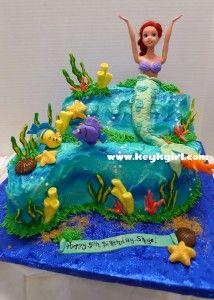 Princess Ariel Birthday Cake