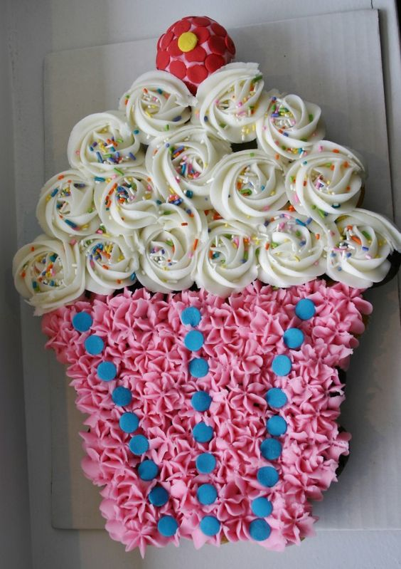 Pull Apart Cupcake Birthday Cake Designs