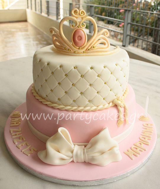 Sleeping Beauty Crown Cake