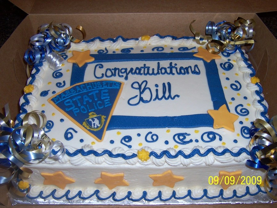 State Police Retirement Cake