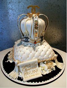 Sweet 16 Crown Cake