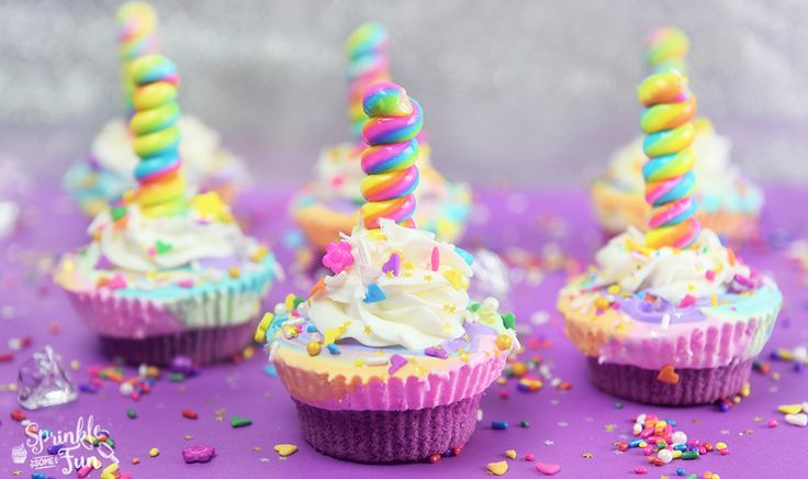 Unicorn Ice Cream Cone Cupcake Pinterest