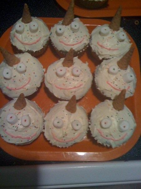 Unicorn with Ice Cream Cones Cupcakes