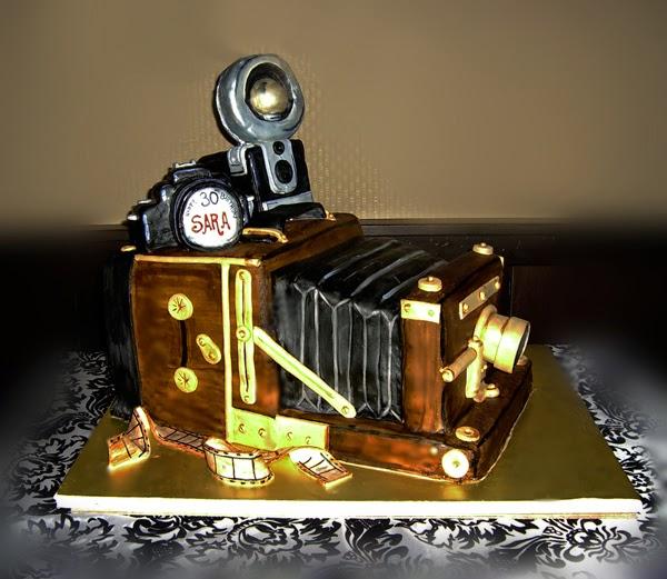 Vintage Camera Birthday Cake