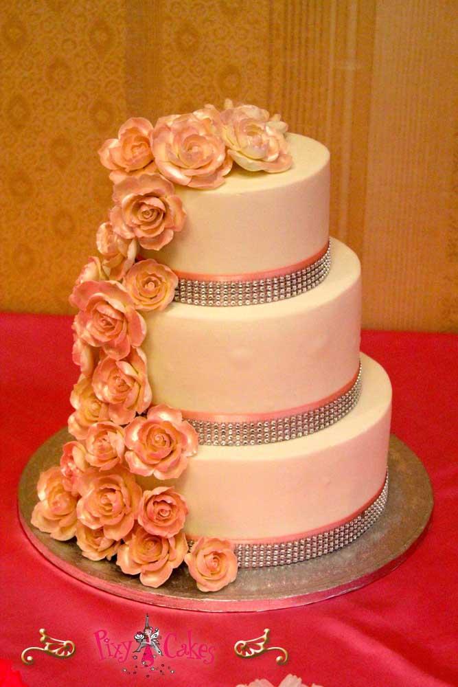 Wedding Cake Flower Waterfall