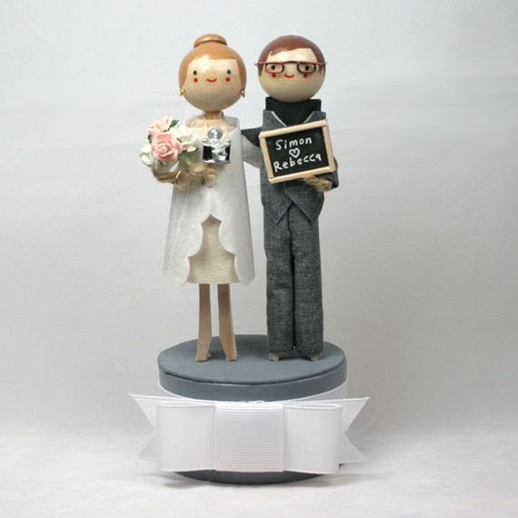 Wedding Cake Toppers with Cameras