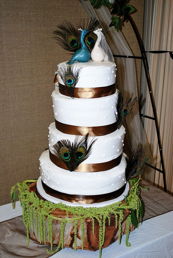 Wedding Cake with Peacock
