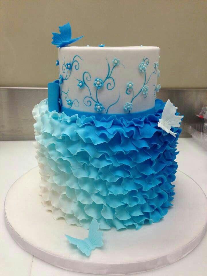 Beautiful Blue Cake