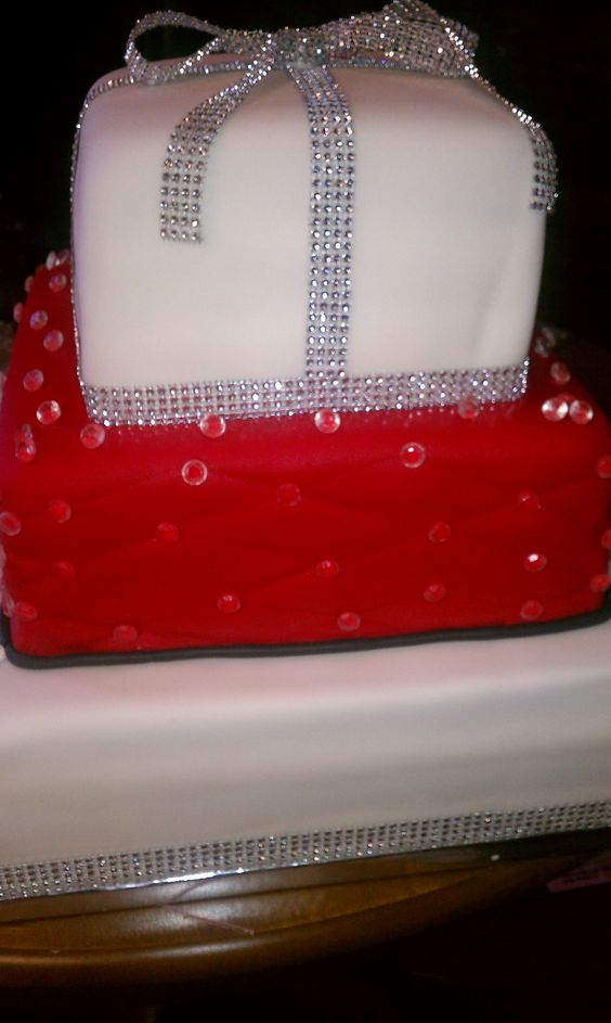Bling 50th Birthday Cake