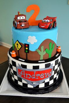 6 Photos of Disney Cars Candy Cakes Creations