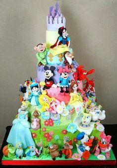 Disney Characters Cake