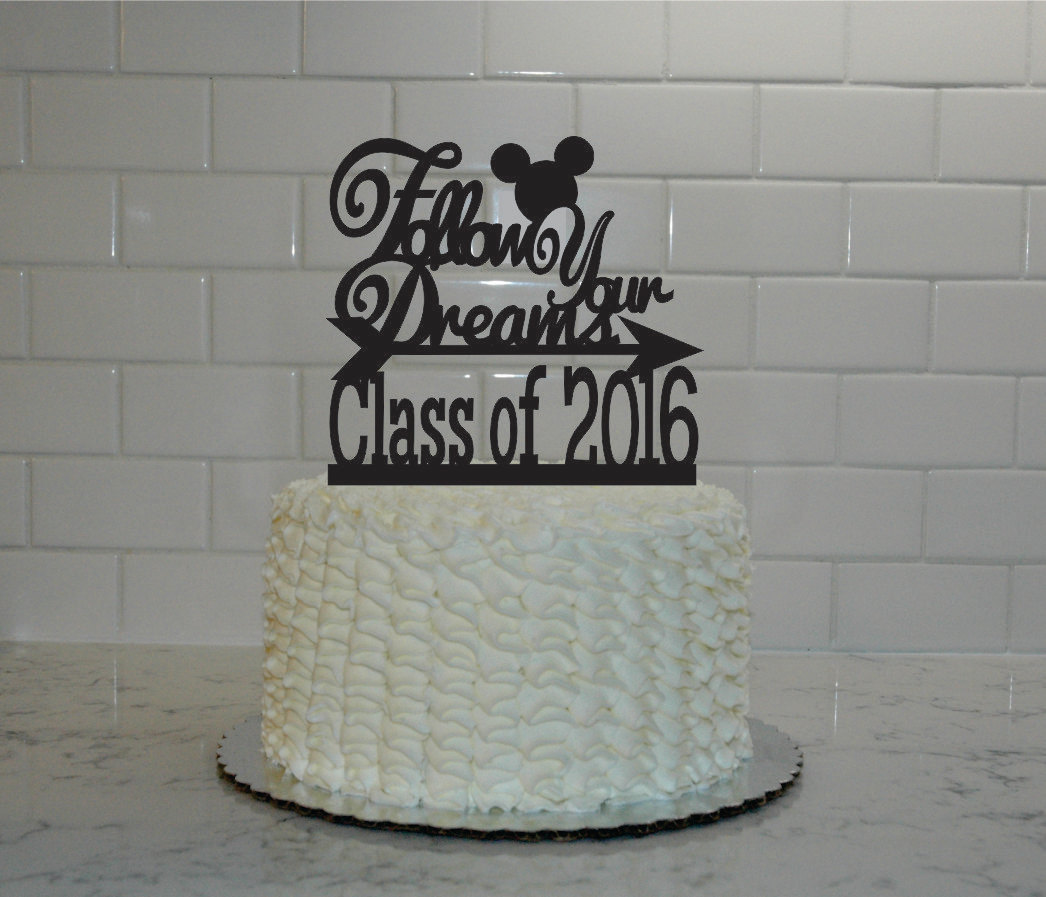 Disney Graduation Cake Topper