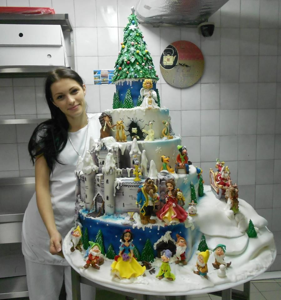 Disney Graduation Cake