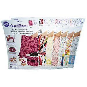 Edible Sugar Sheets for Cake Decorating