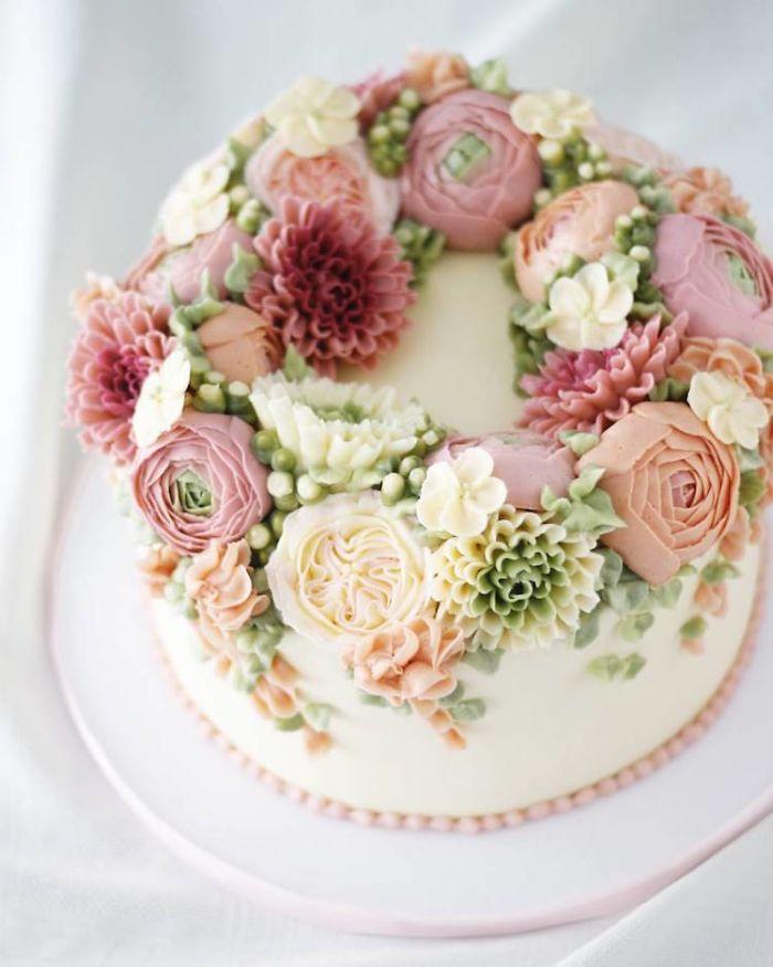 Flower Birthday Cake Buttercream