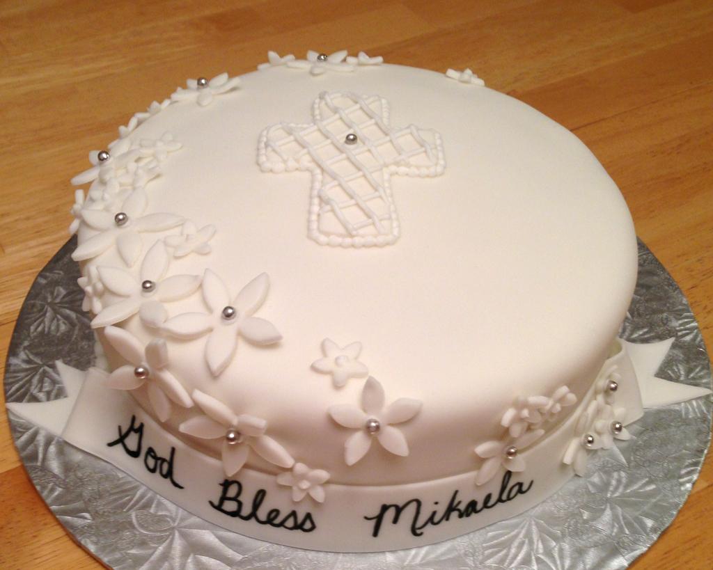 Fondant Confirmation Cake