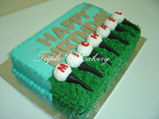 Golf Decorated Cake