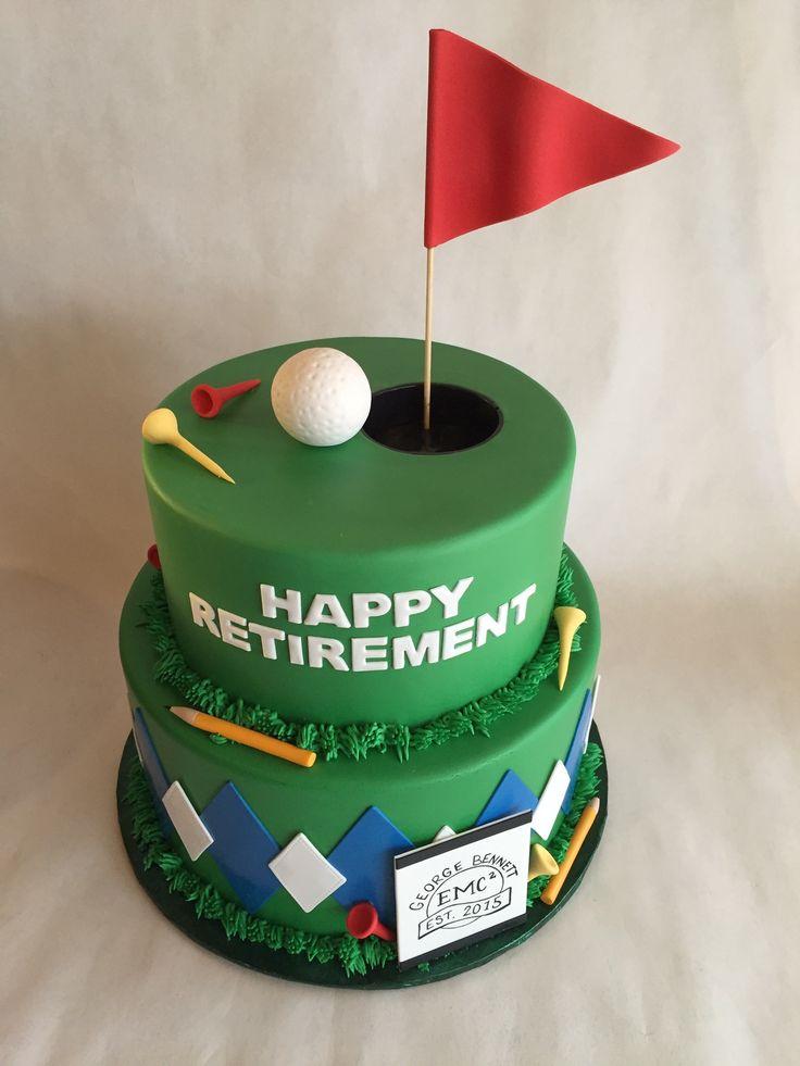 Golf Retirement Cake