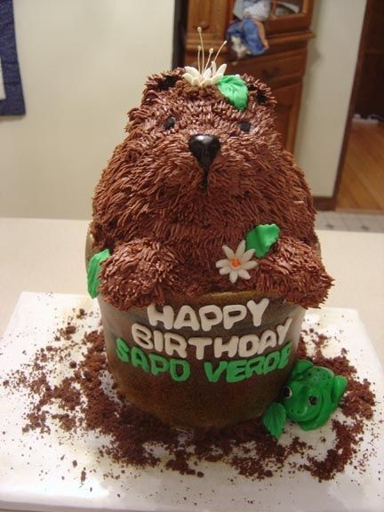 Groundhog Cake