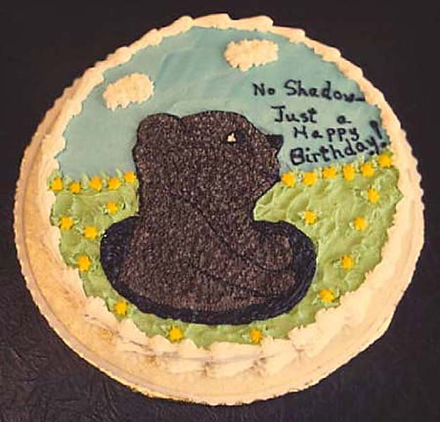 Groundhog Day Birthday Cake