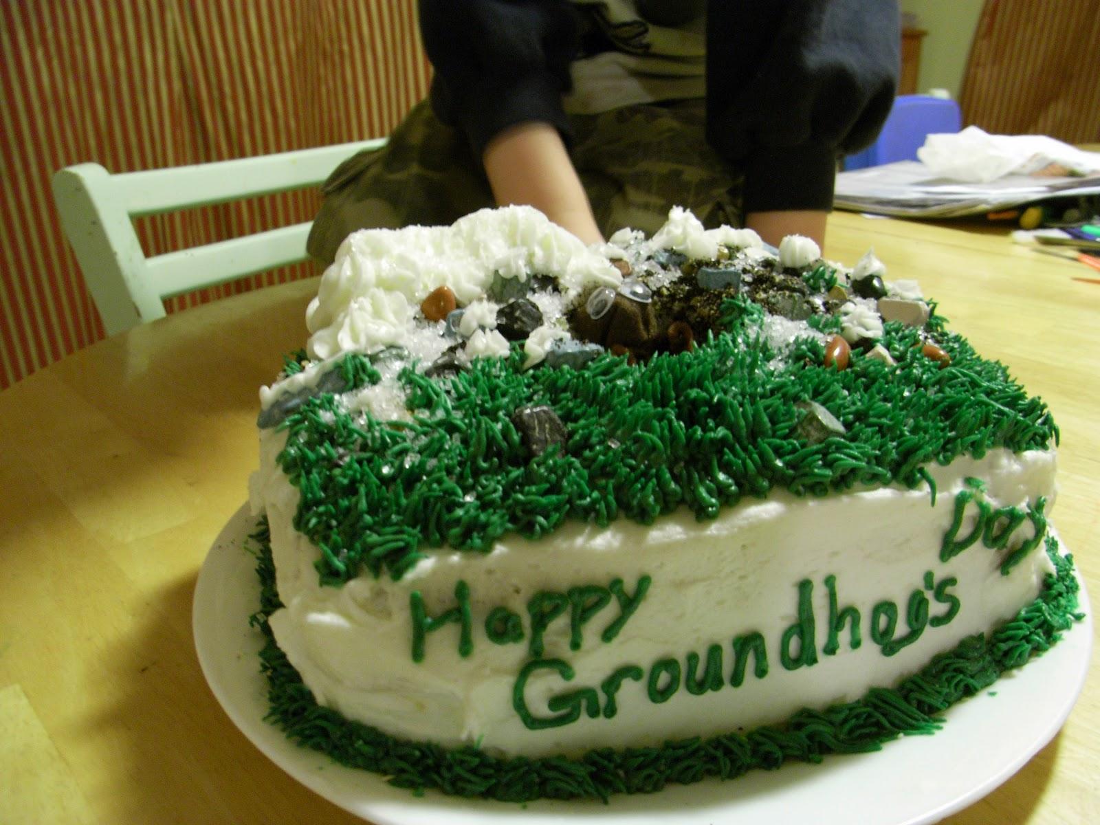 Happy Groundhog Day Birthday Cake