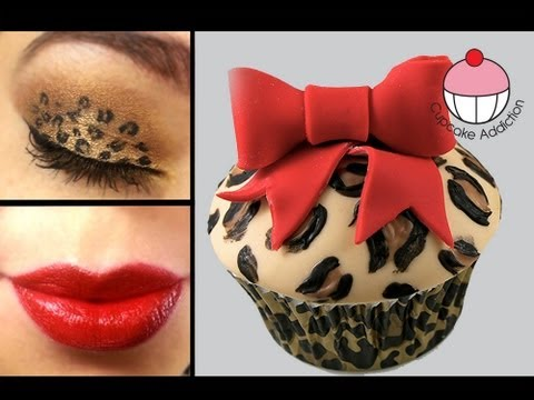 Leopard Print Cupcake Tutorial