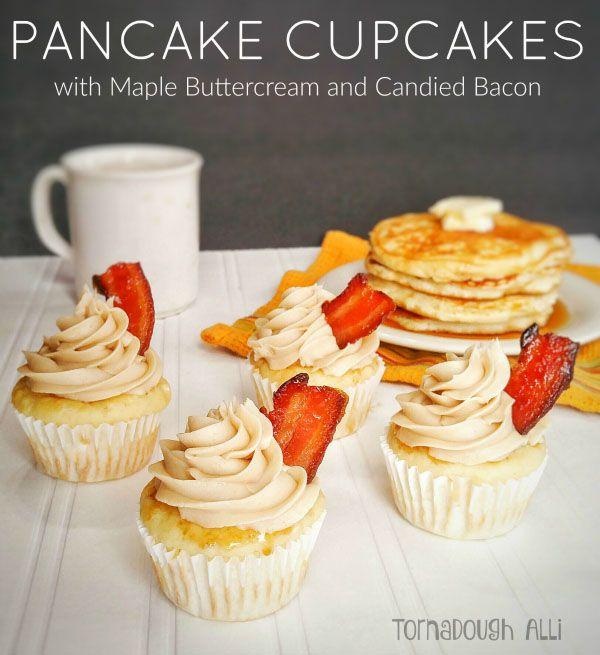 Maple Bacon Pancake Cupcakes with Buttercream