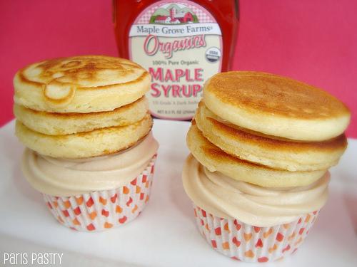 Maple Pancake Cupcakes