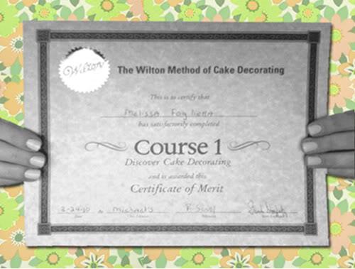 Michaels Wilton Cake Decorating Class