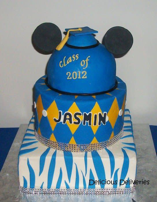 Mickey Mouse Graduation Cake
