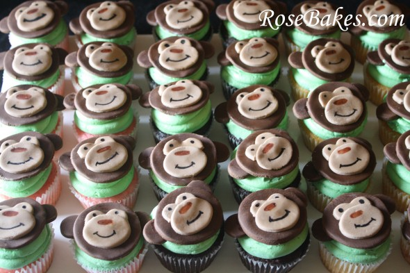 Monkey Baby Shower Cupcakes Ideas