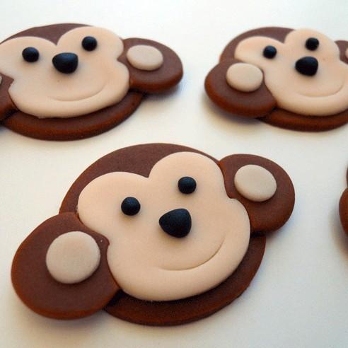 Monkey Fondant Cupcake Topper