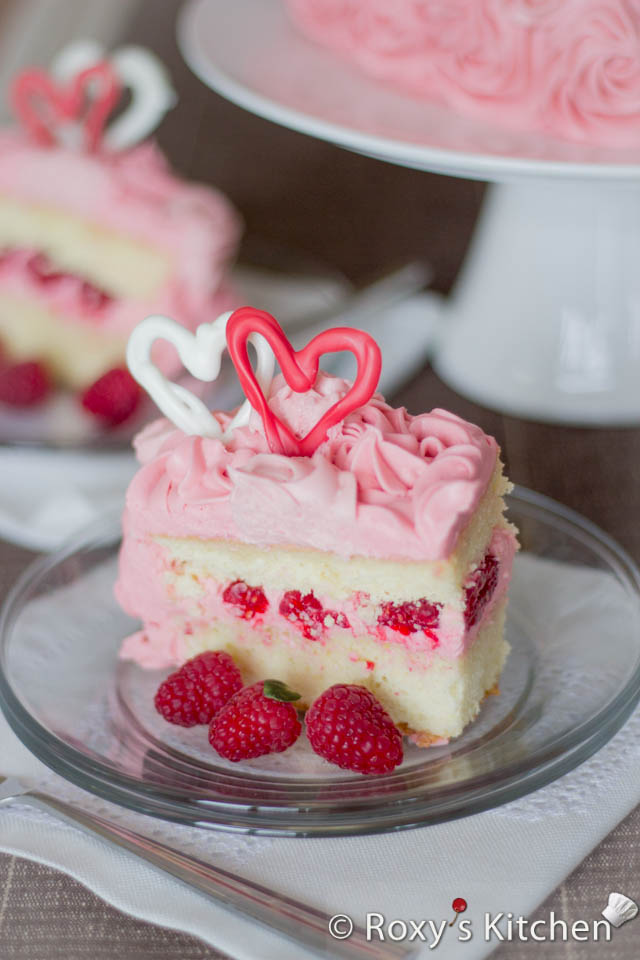Raspberry Cake with Cream Cheese Frosting