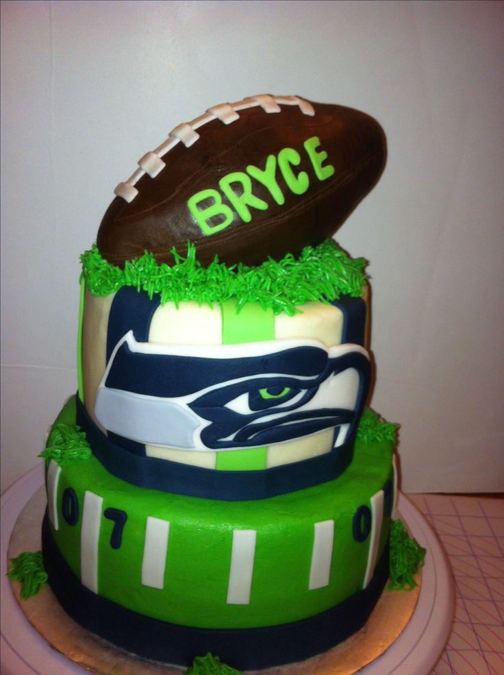 Seattle Seahawks Football Cake