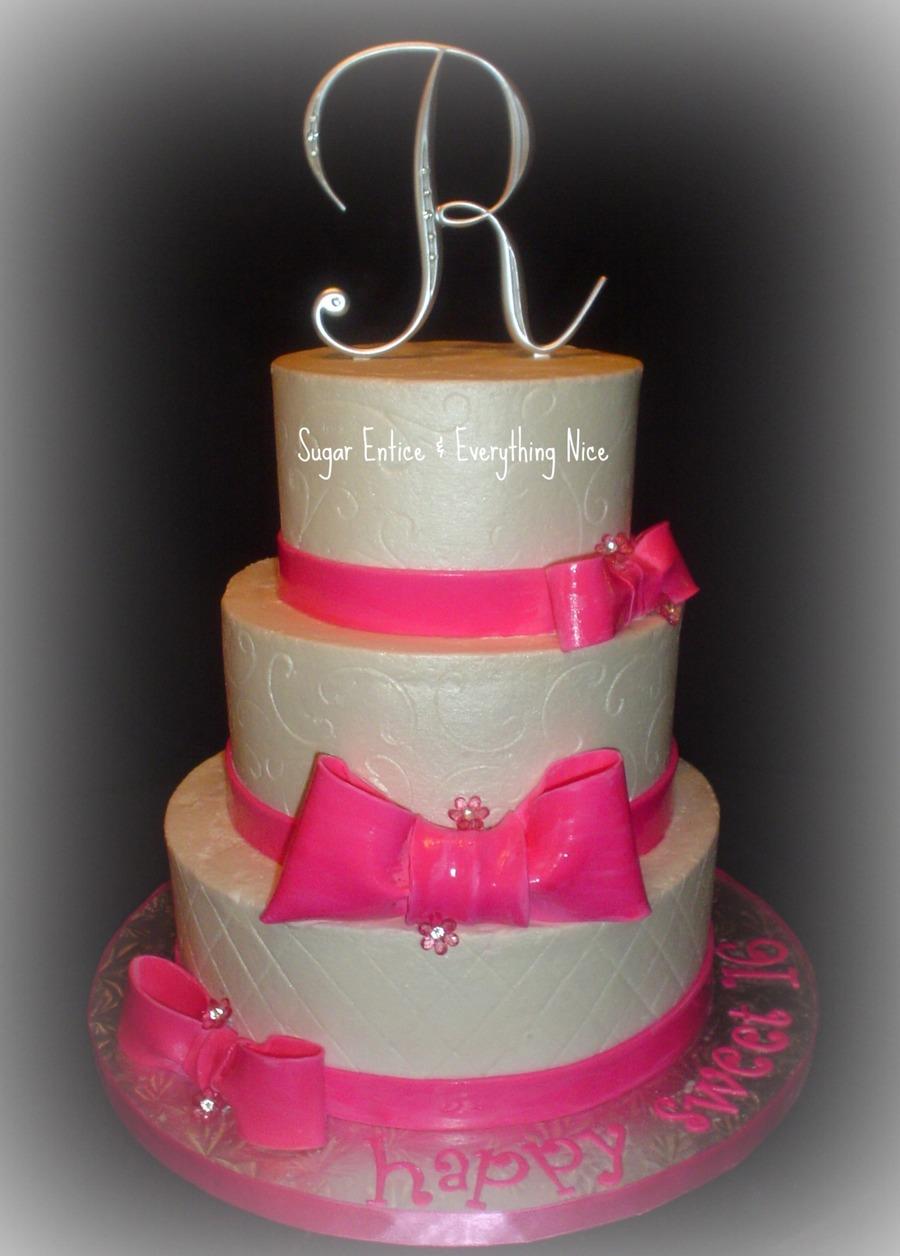 Sweet 16 Buttercream Cake