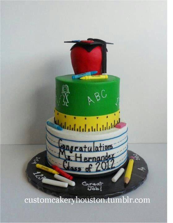 Teacher Graduation Cake