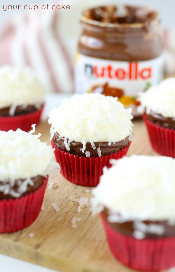 These Coconut Nutella Cupcakes