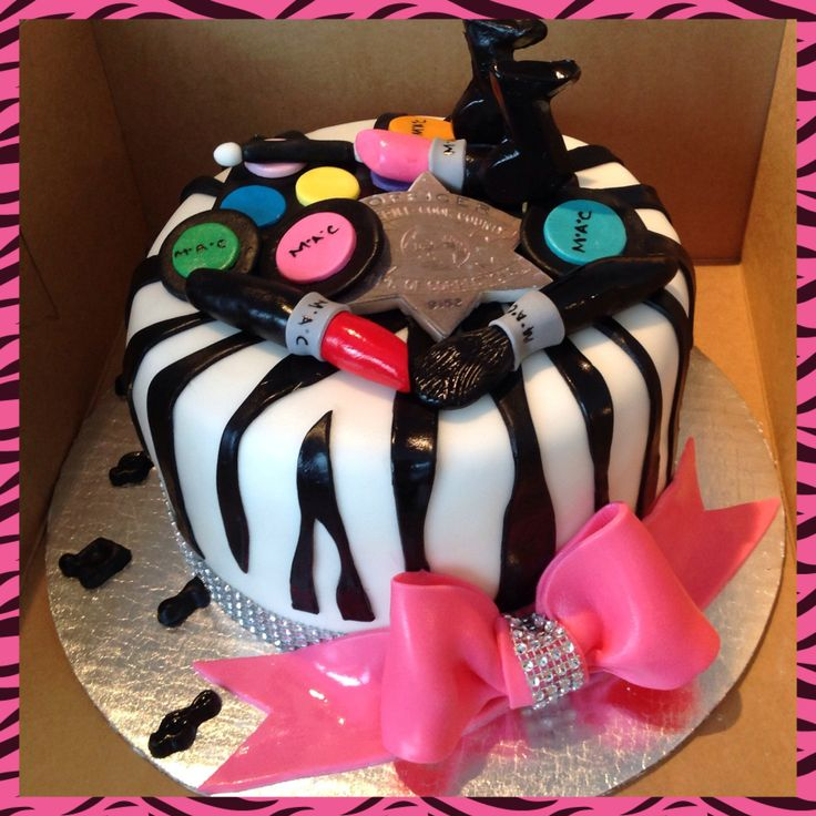 Zebra Print Make Up Cake