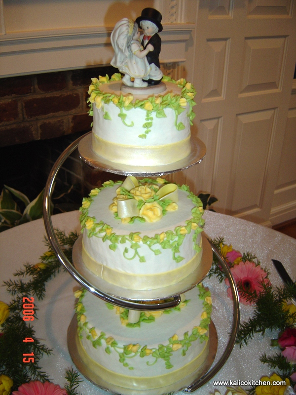 3 Separate Tier Wedding Cake Stands