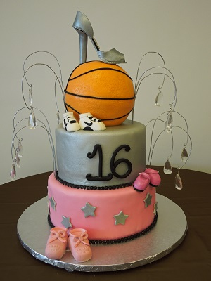 12 Photos of Basketball Theme For Sweet 16 Cakes